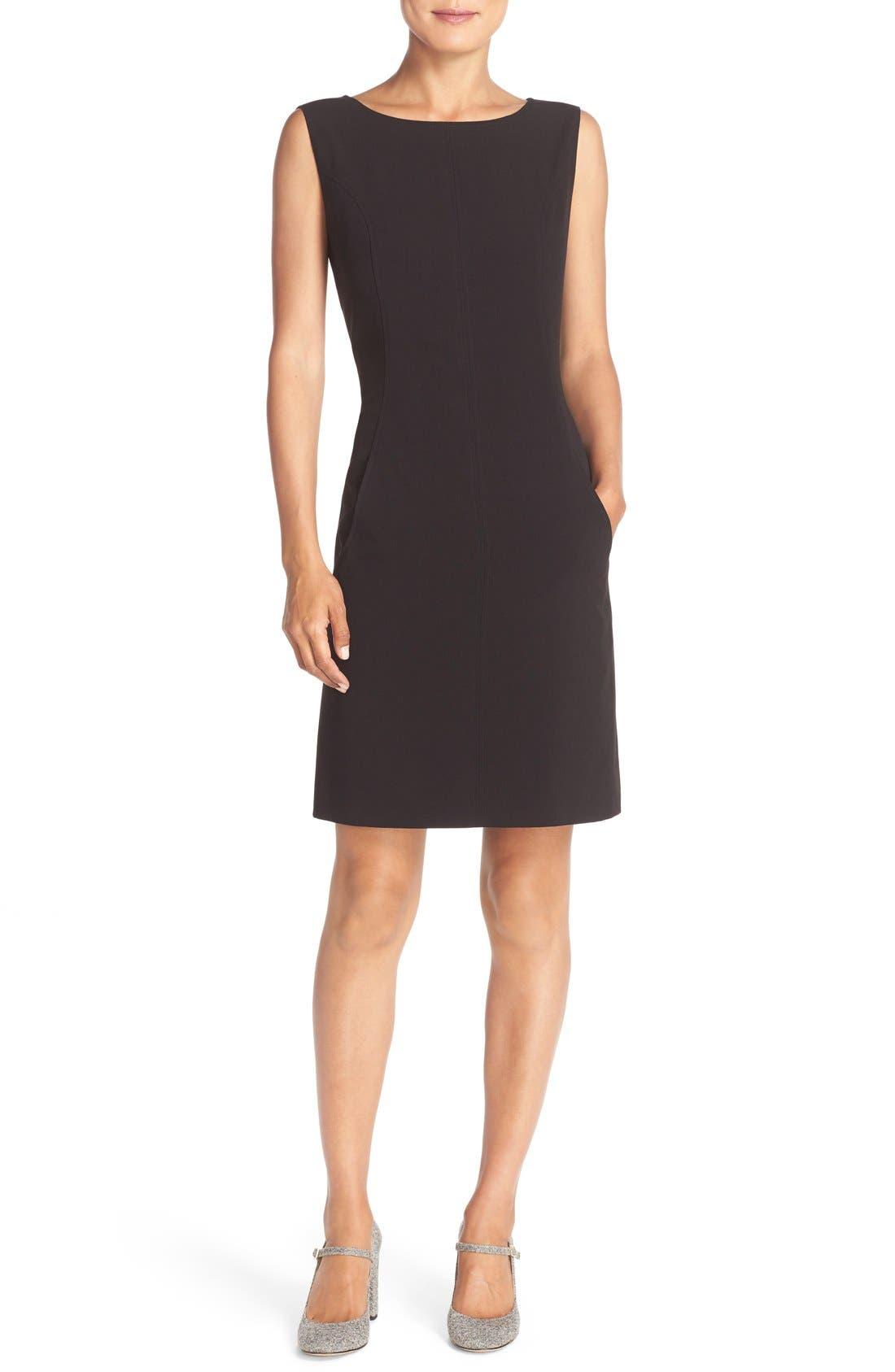 Alternate Image 4  - Tahari Seamed Woven A-Line Dress