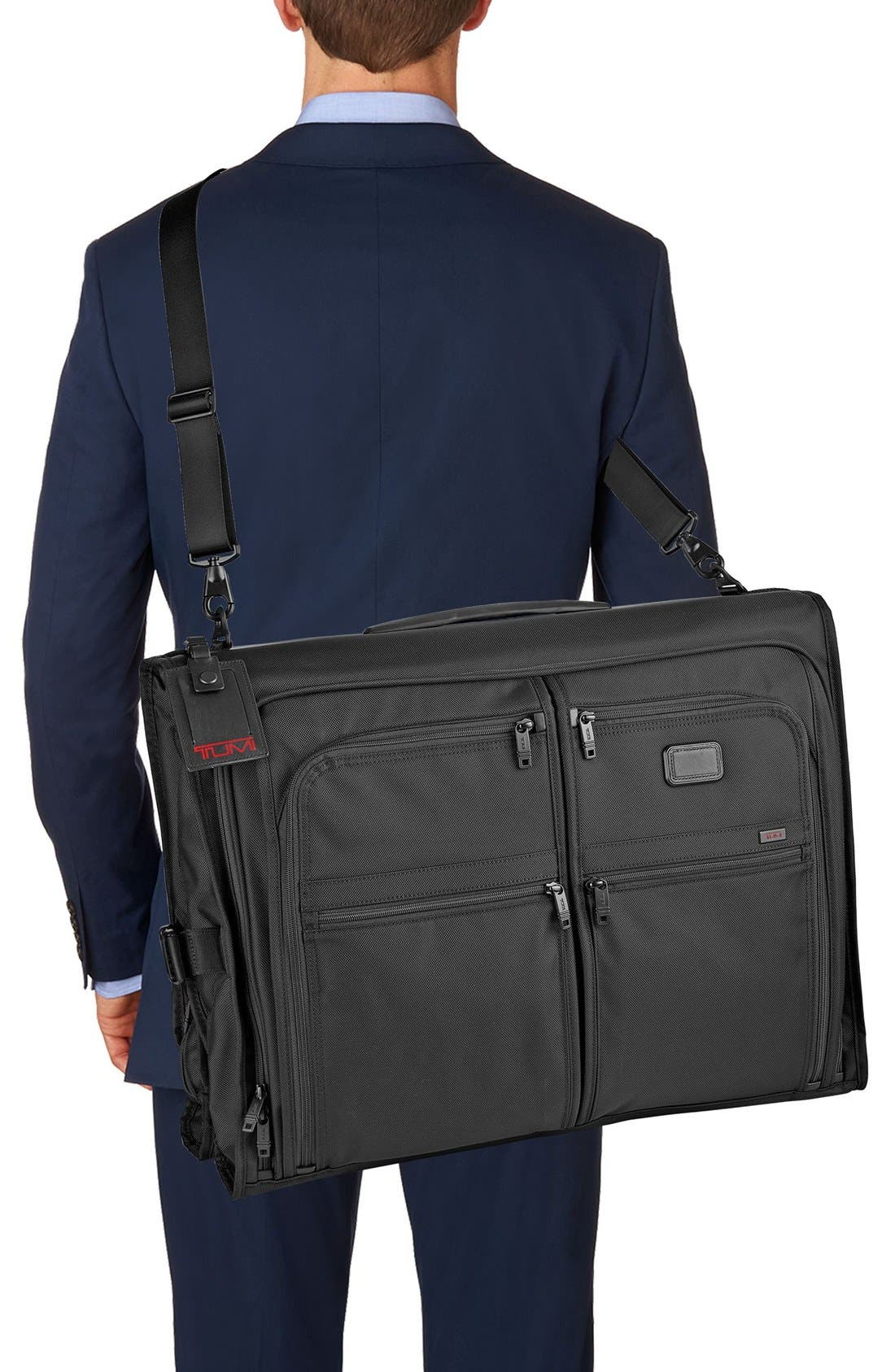 Alpha 2 Classic Garment Bag,                             Alternate thumbnail 4, color,                             Black