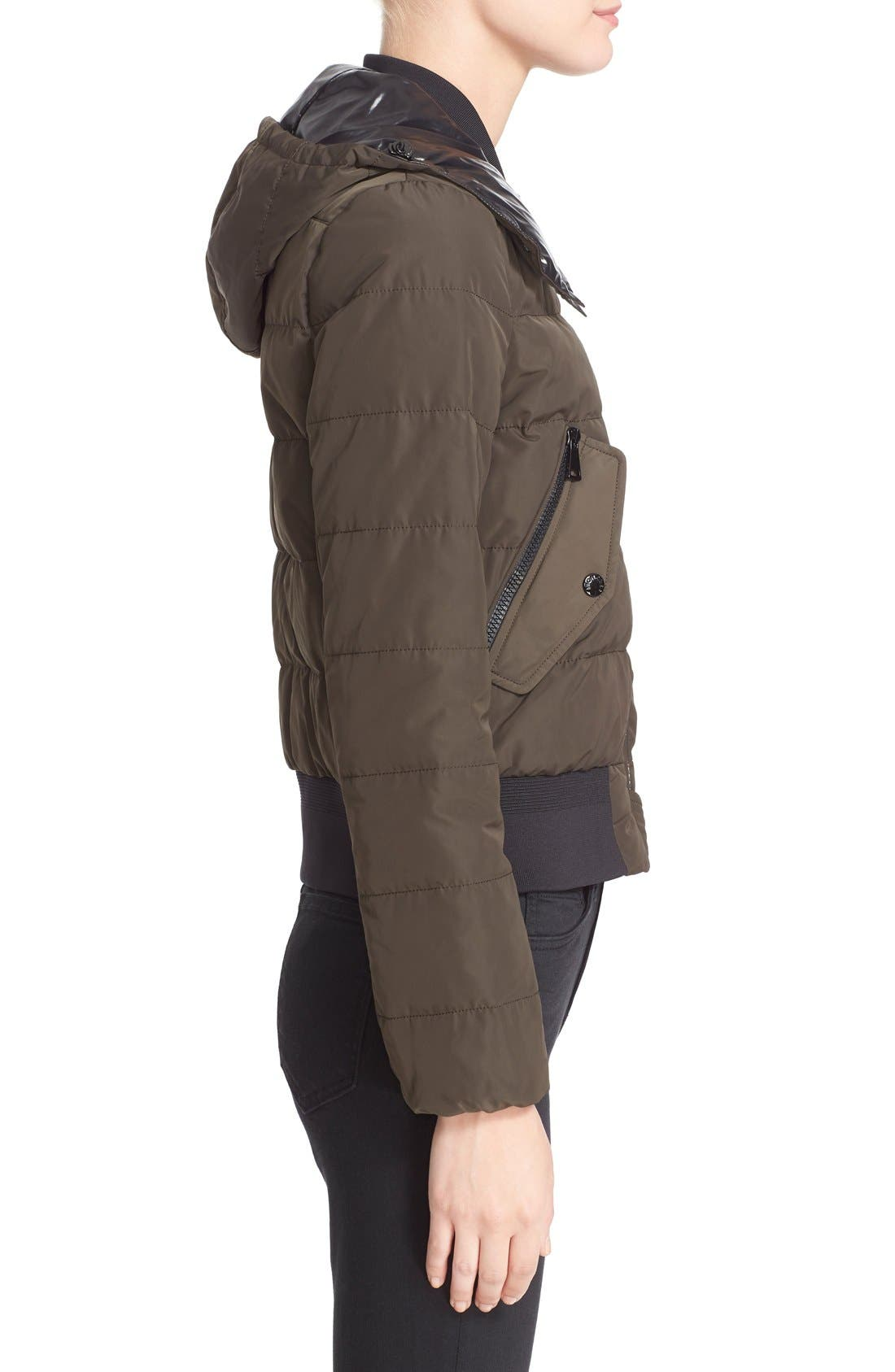 'Agathe' Water Resistant Hooded Down Jacket,                             Alternate thumbnail 5, color,                             Olive