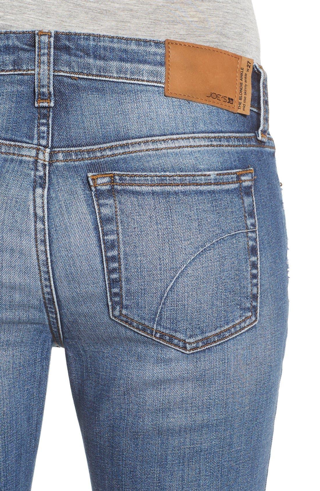 Alternate Image 4  - Joe's 'Collector's - Blondie' Destroyed Ankle Skinny Jeans (Coppola)