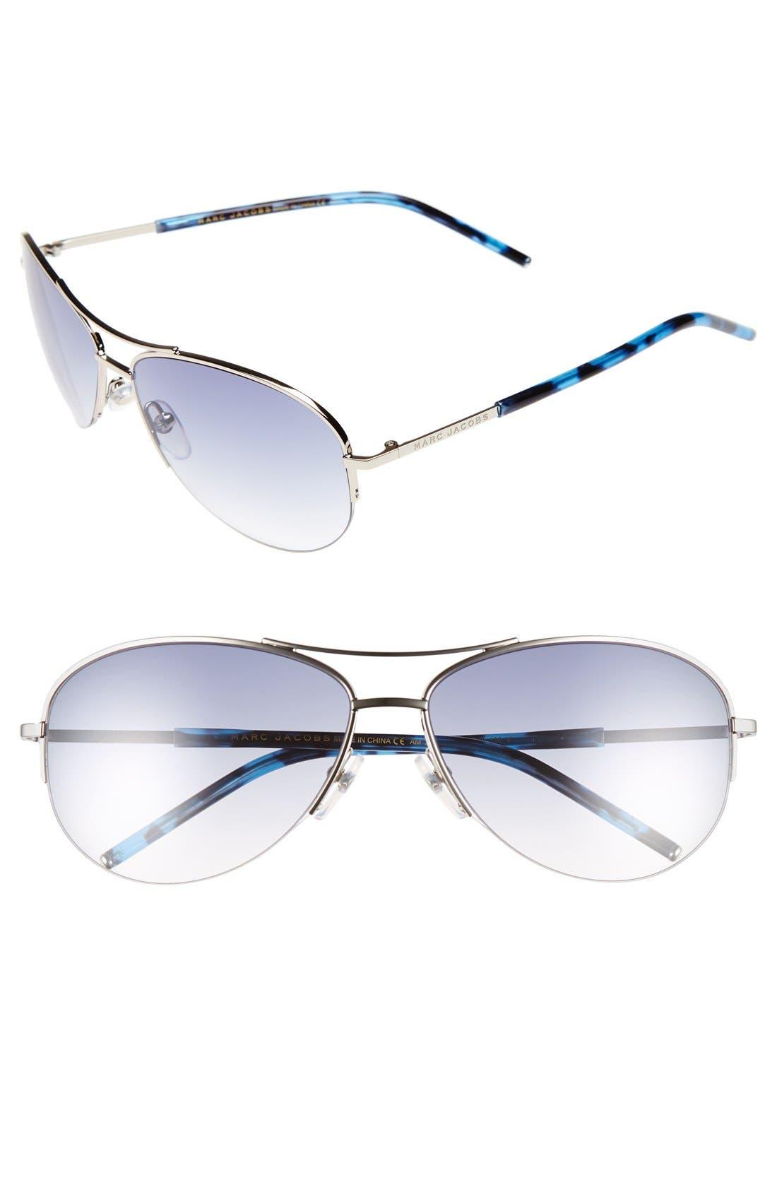 59mm Semi Rimless Sunglasses,                         Main,                         color, Palladium