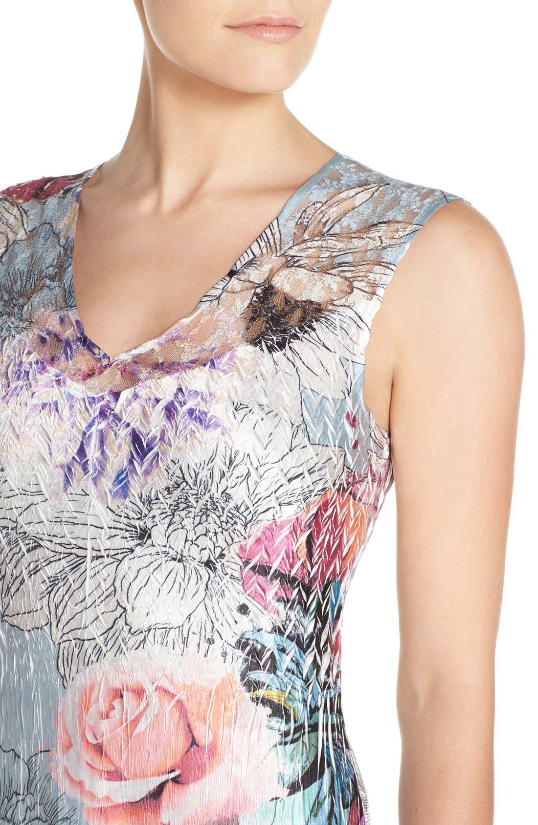 Alternate Image 4  - Komarov Mixed Media Midi Dress (Regular & Petite)
