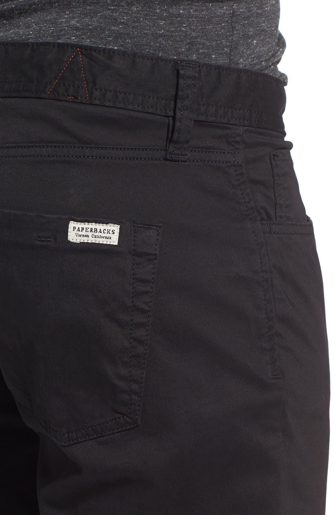 'Silverlake' Pants,                             Alternate thumbnail 4, color,                             Black