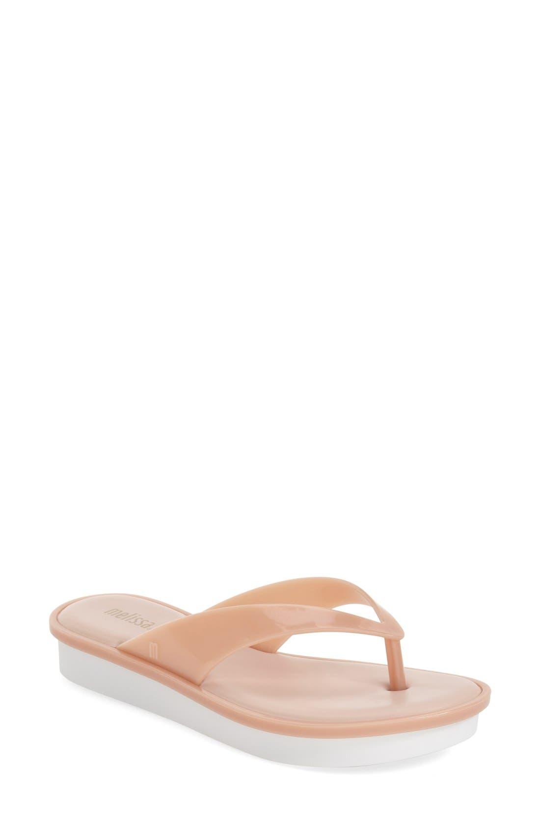 Melissa 'New High' Jelly Platform Flip Flop (Women)