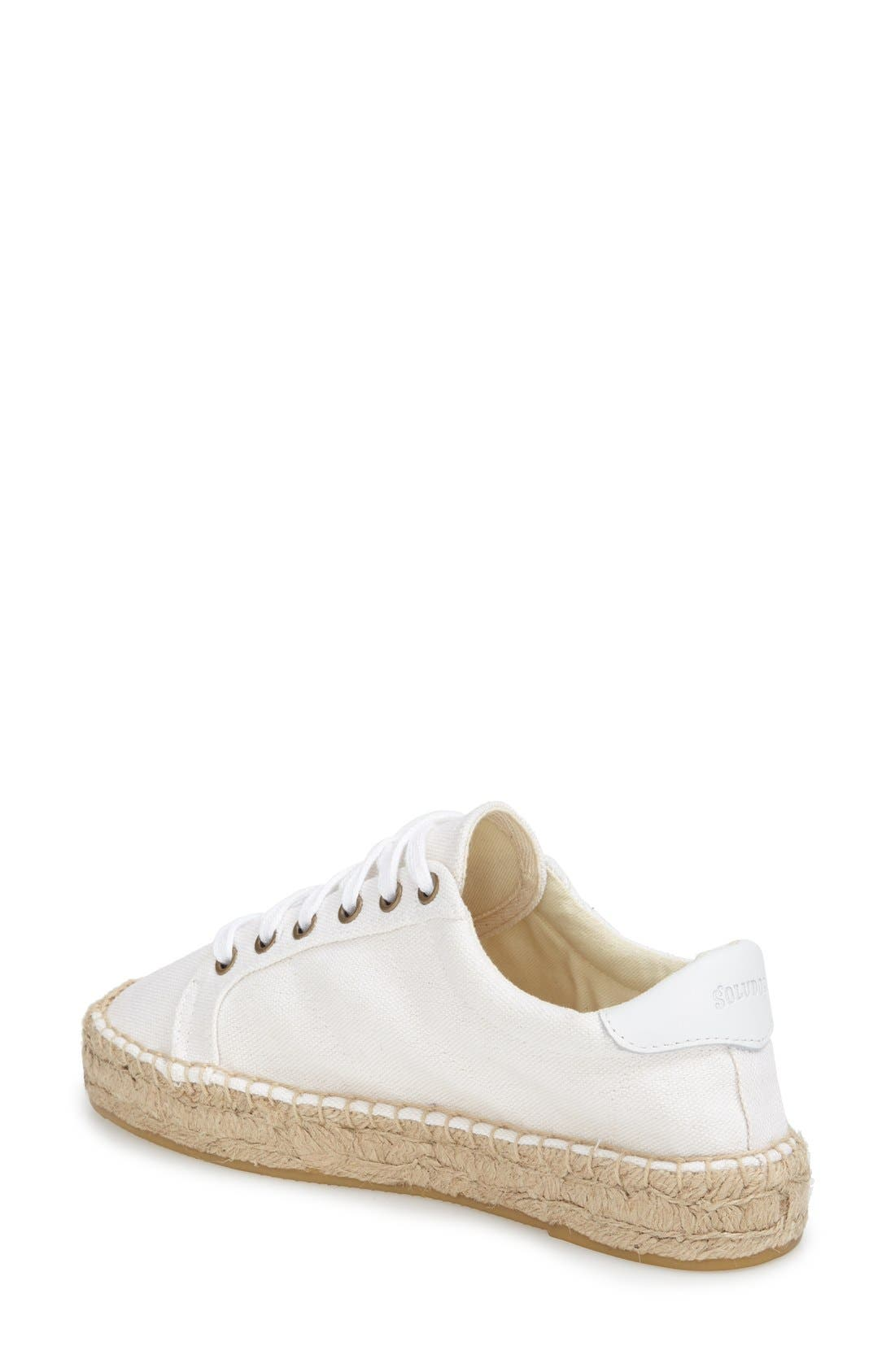 Espadrille Platform Sneaker,                             Alternate thumbnail 2, color,                             Bright White Canvas