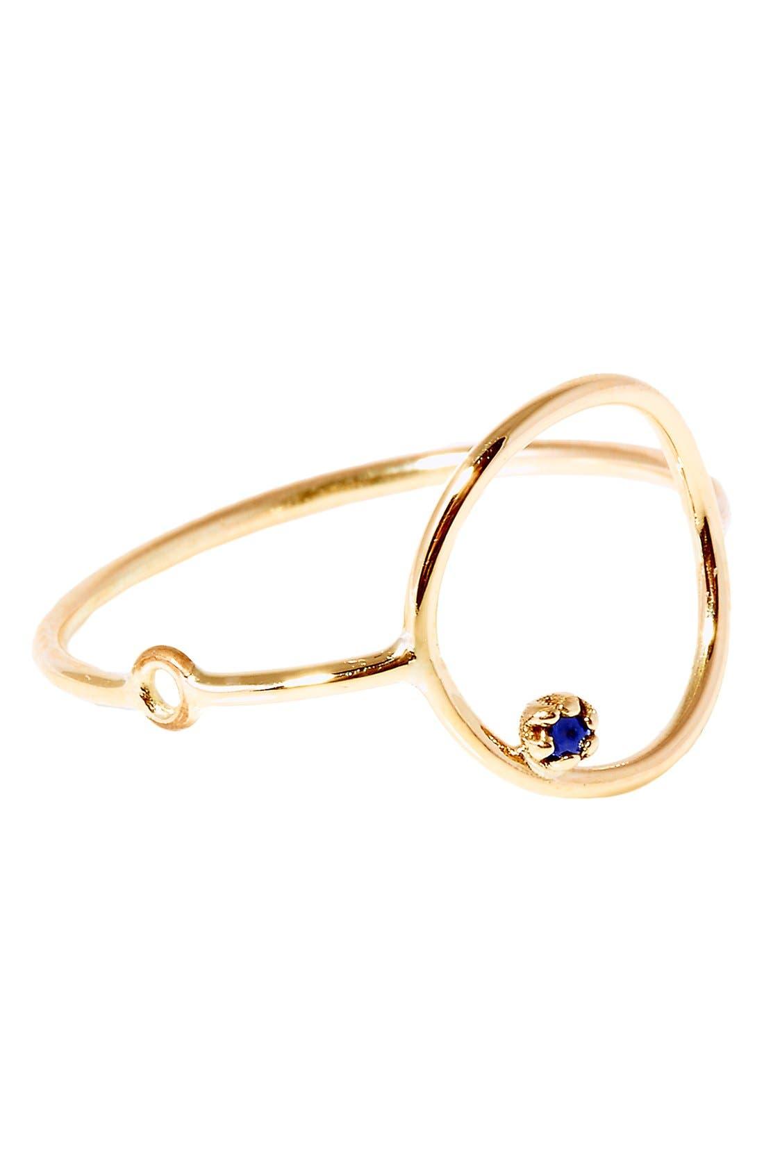 SARAH & SEBASTIAN 'Stone Bubble' Gold & Sapphire Ring