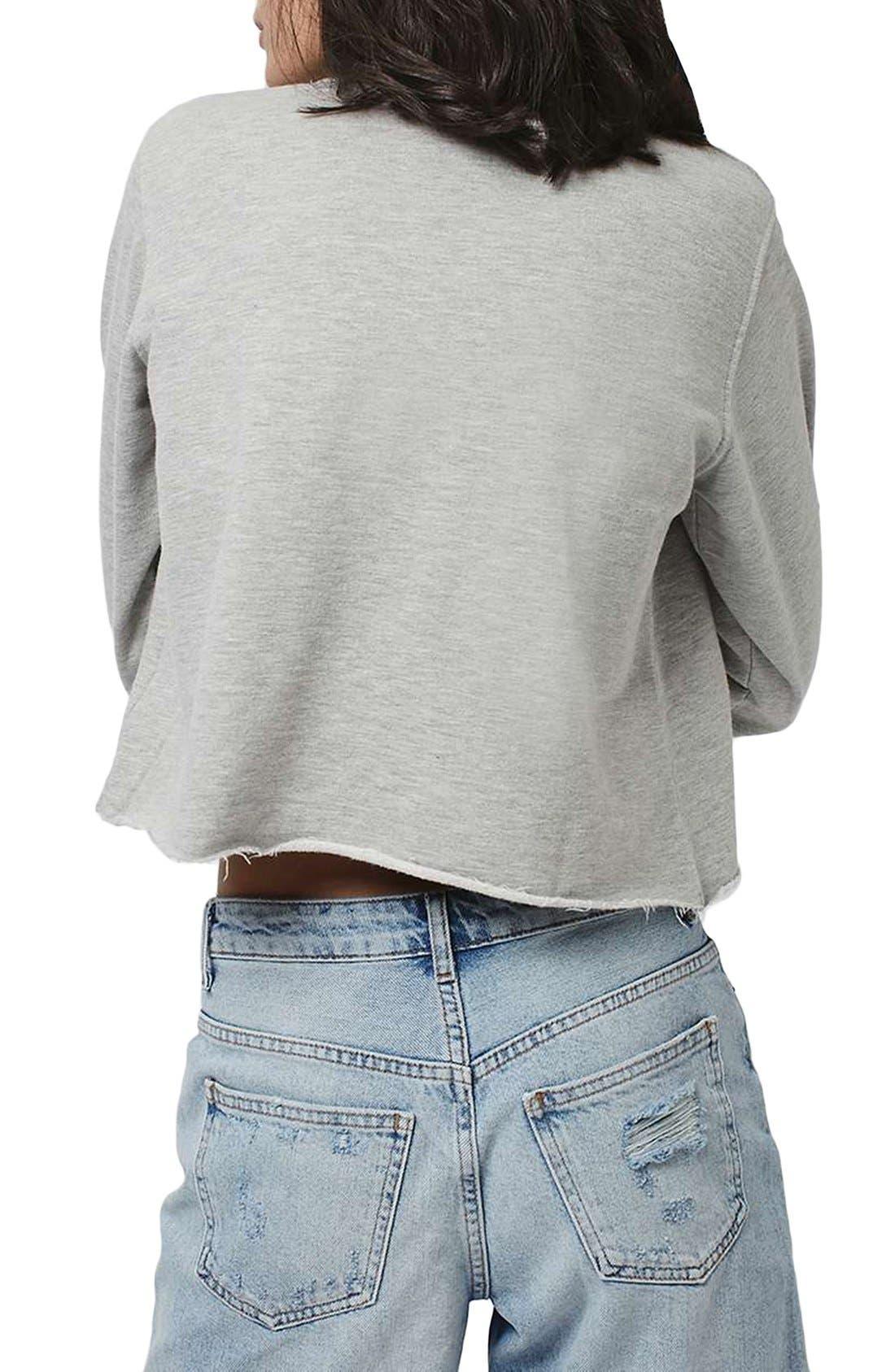 Alternate Image 2  - Topshop by Tee & Cake 'Eagles' Crop Sweatshirt