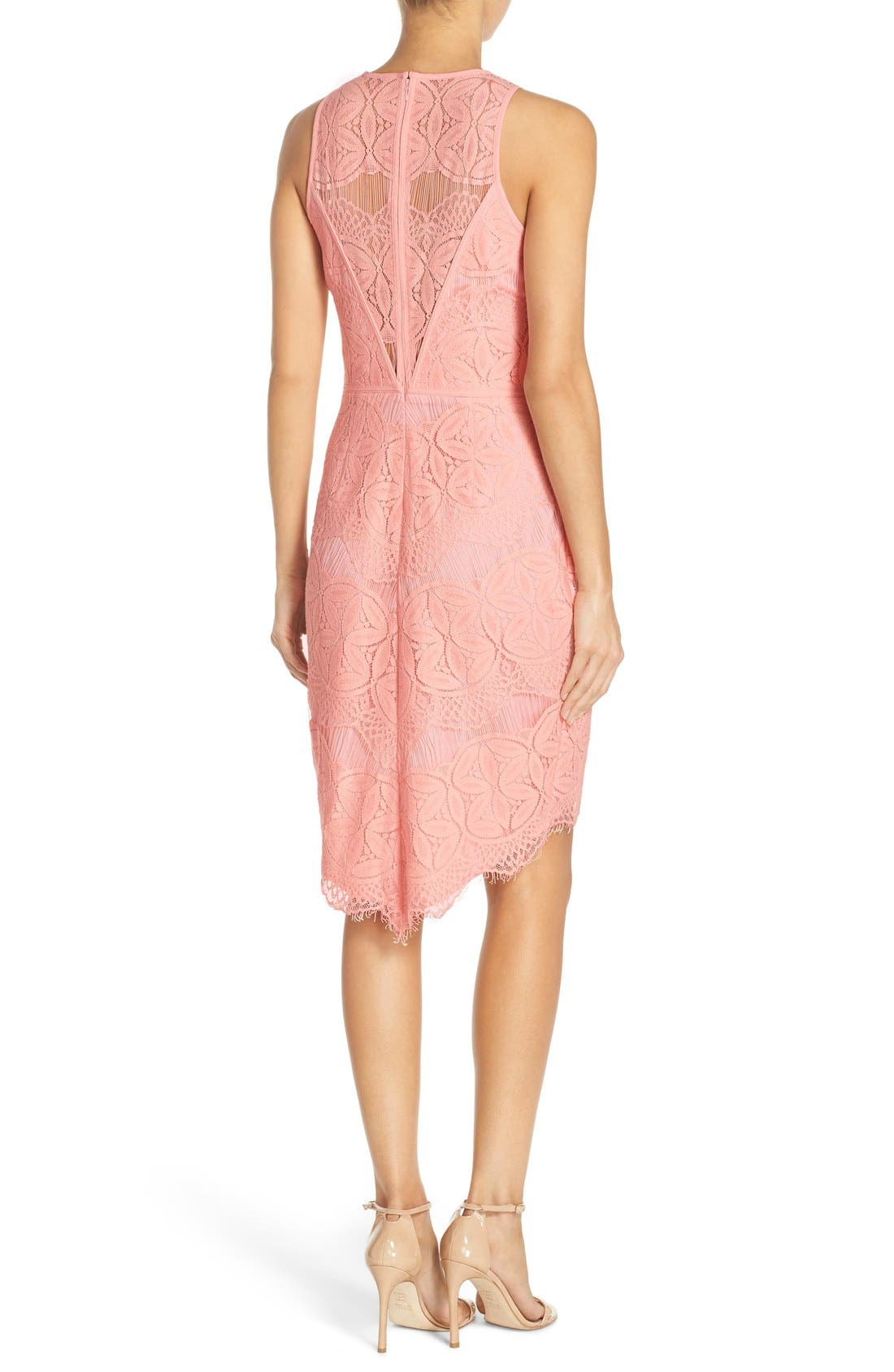 Alternate Image 2  - Adelyn Rae Lace High/Low Sheath Dress