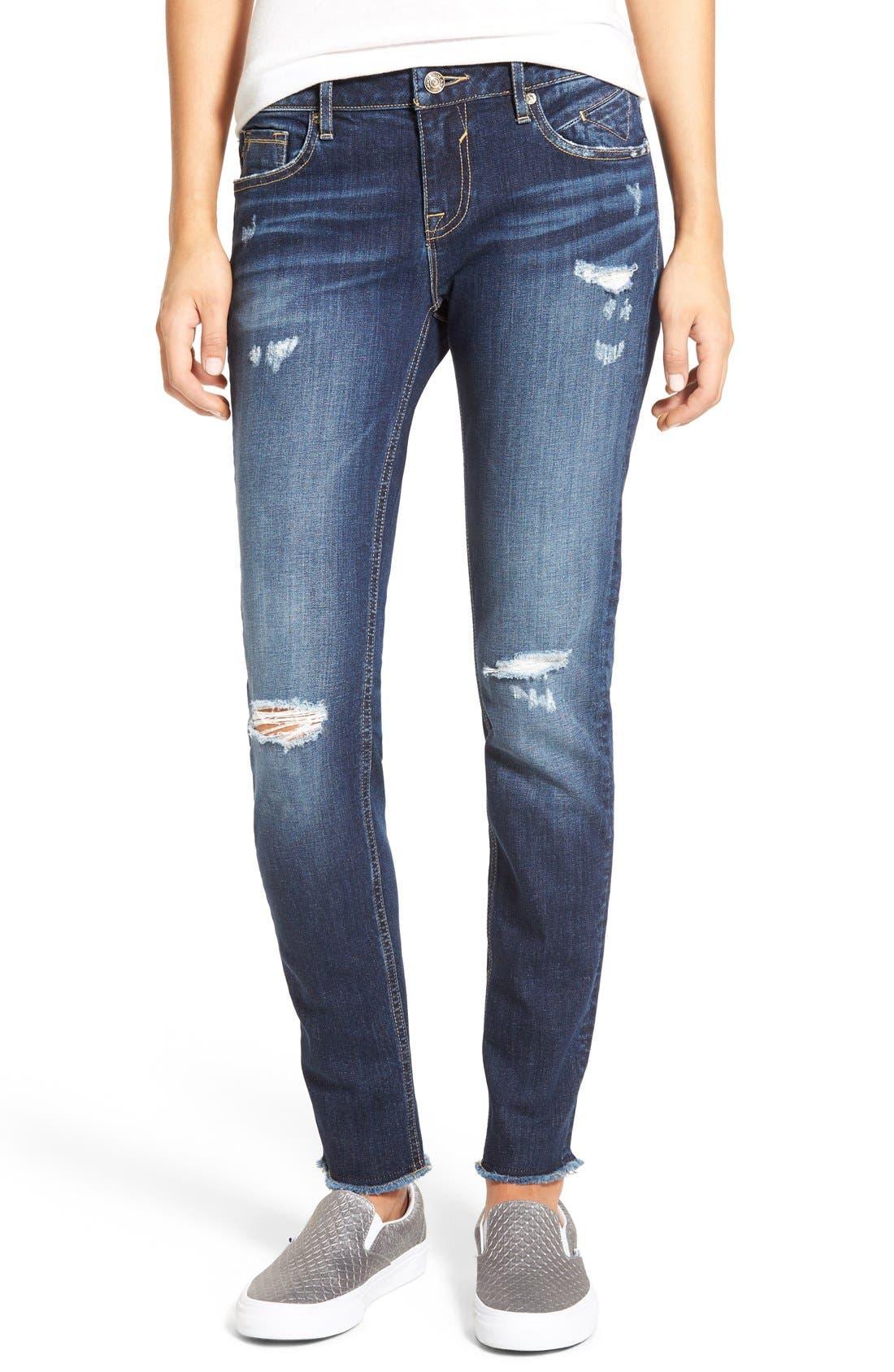Alternate Image 1 Selected - Vigoss 'Chelsea' Frayed Hem Skinny Jeans