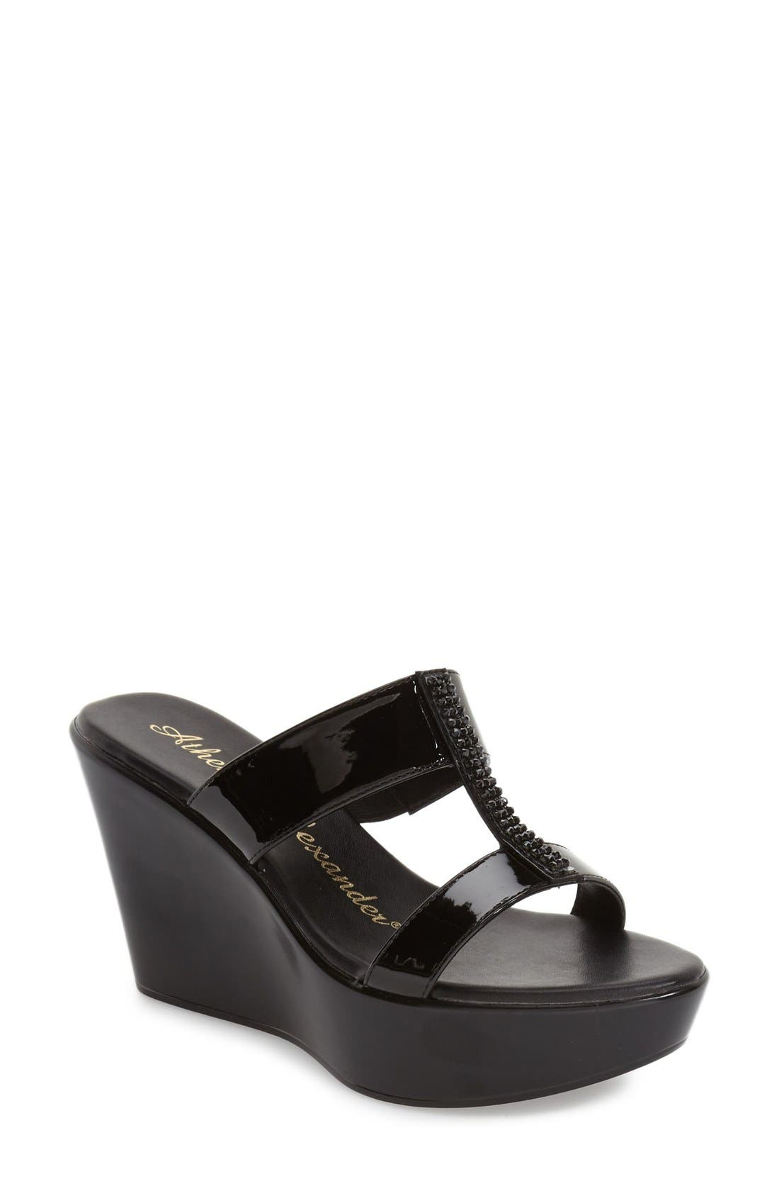 Athena Alexander 'Party' Wedge Sandal (Women)