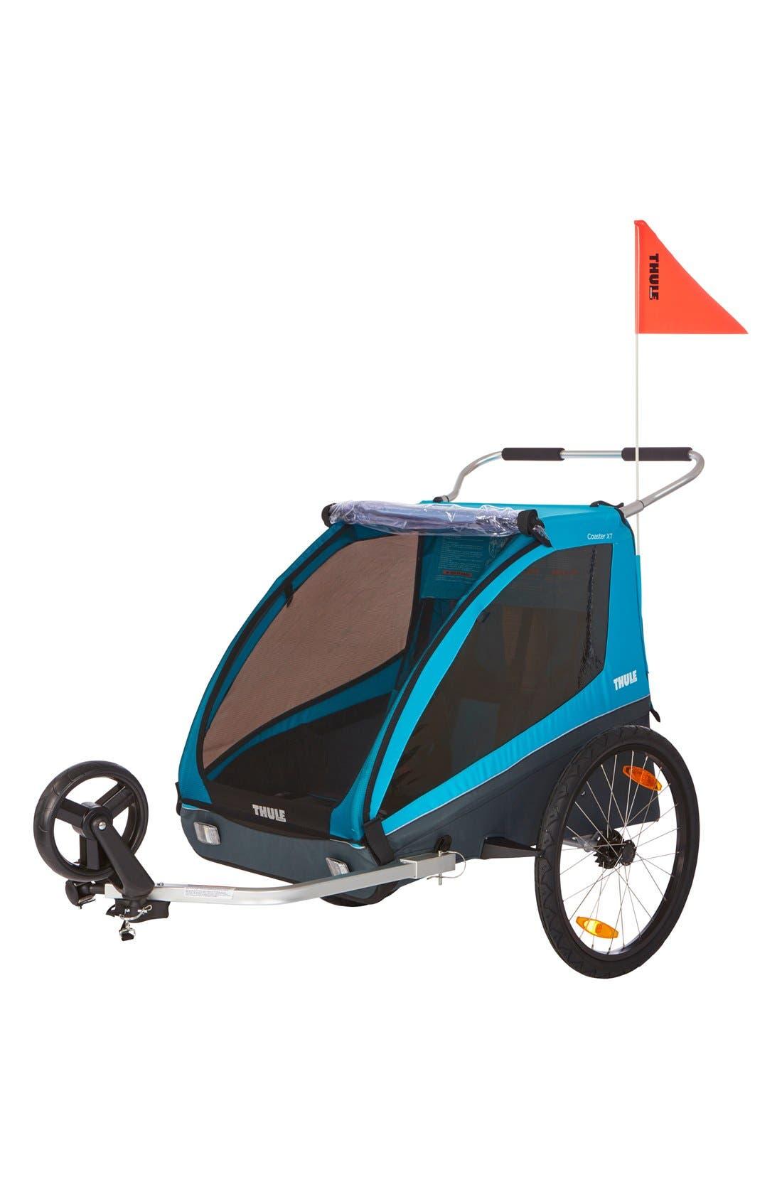 Coaster XT Double Seat Bike Trailer,                             Alternate thumbnail 4, color,                             Blue