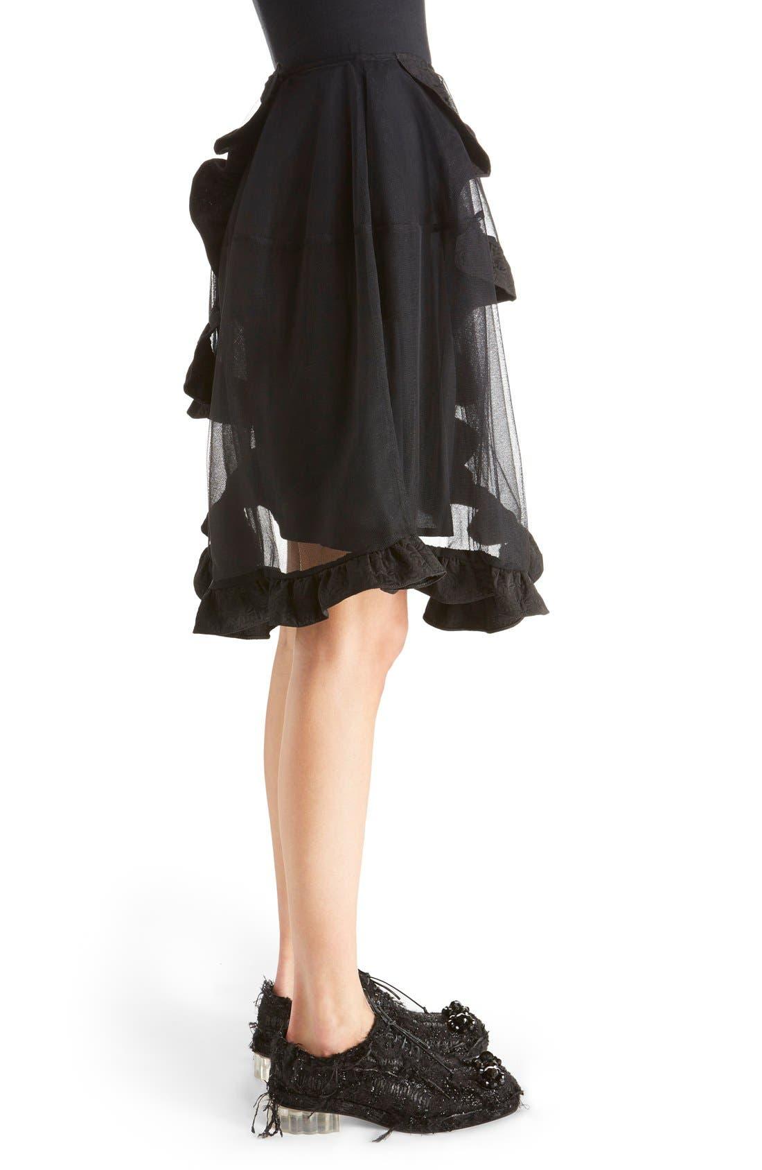 Alternate Image 4  - Simone Rocha Brocade Trim Tulle Skirt