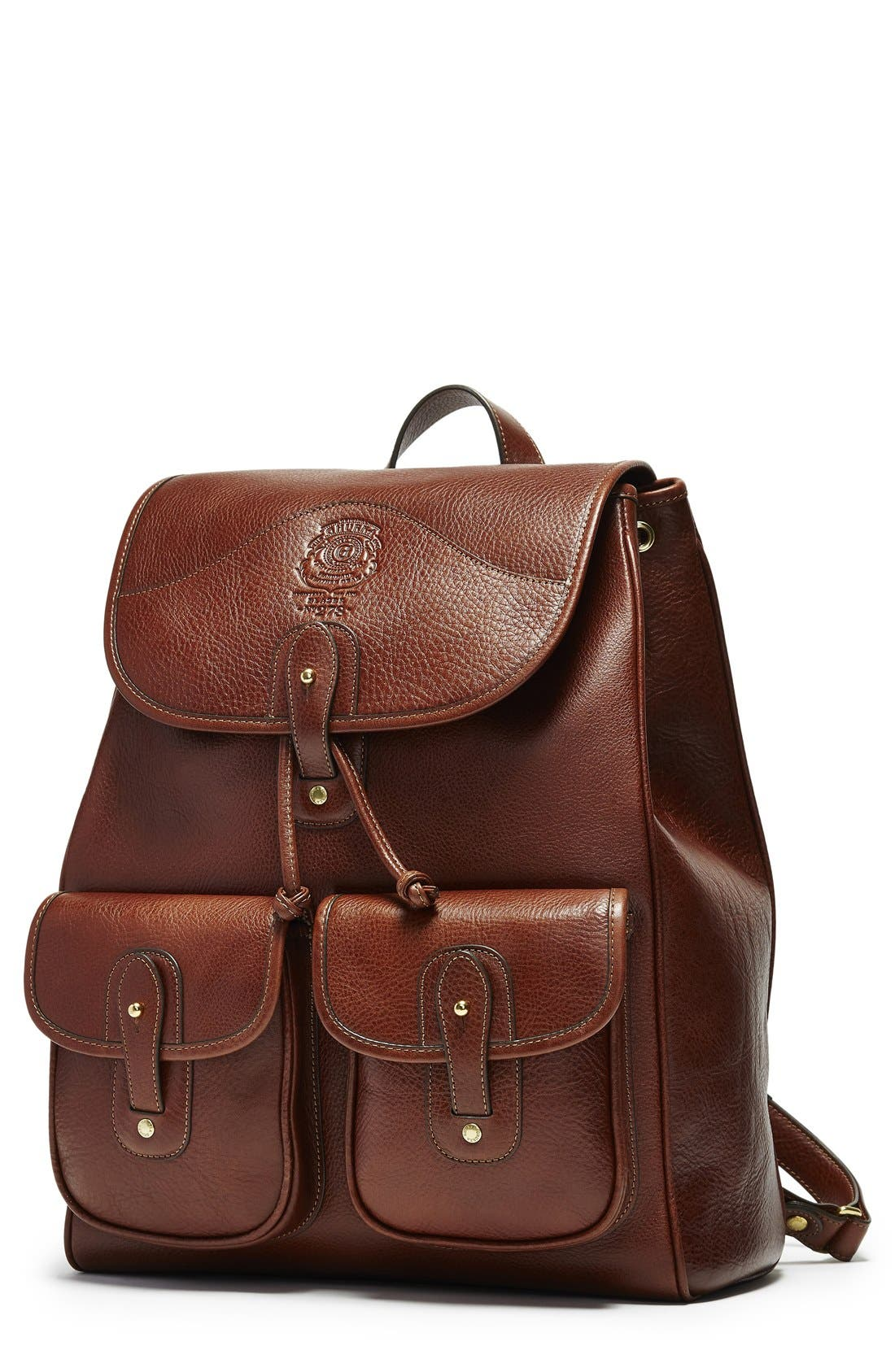 Ghurka 'Blazer' Leather Backpack