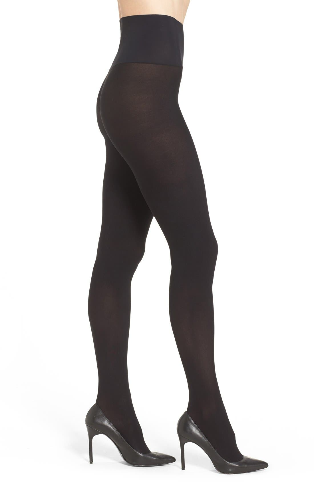Ultimate Opaque Matte Tights,                         Main,                         color, Black