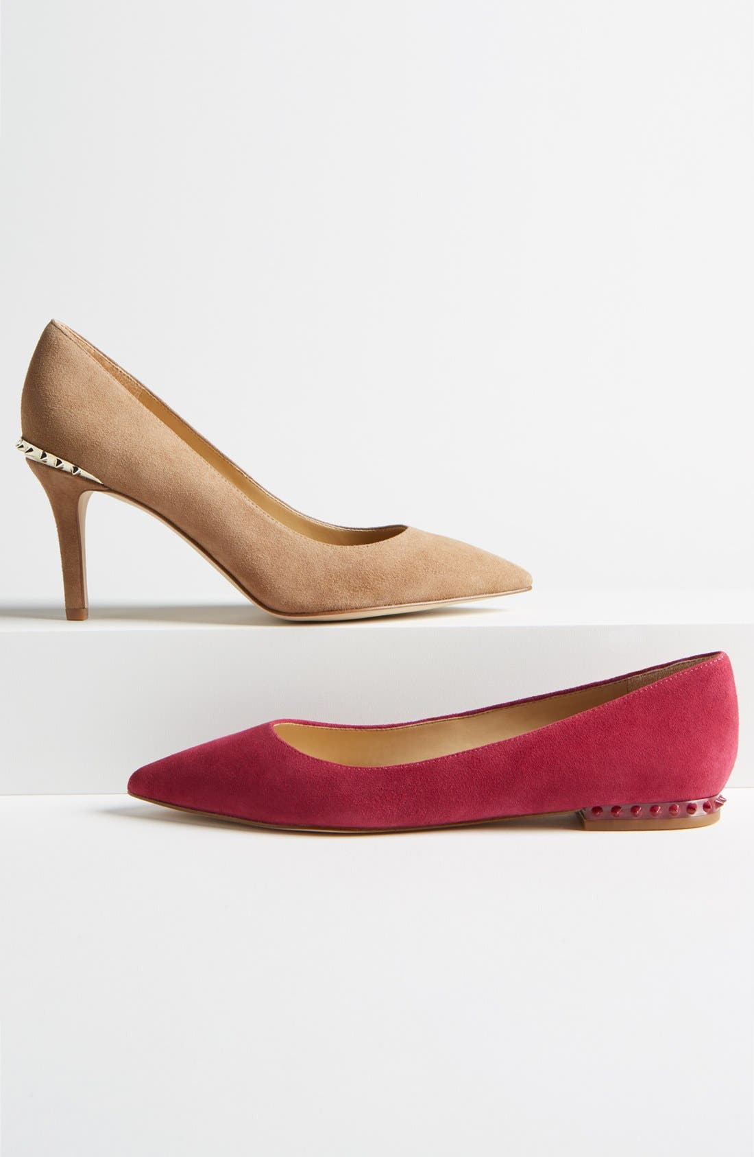 'Reyanne' Spike Rand Pointy Toe Flat,                             Alternate thumbnail 5, color,