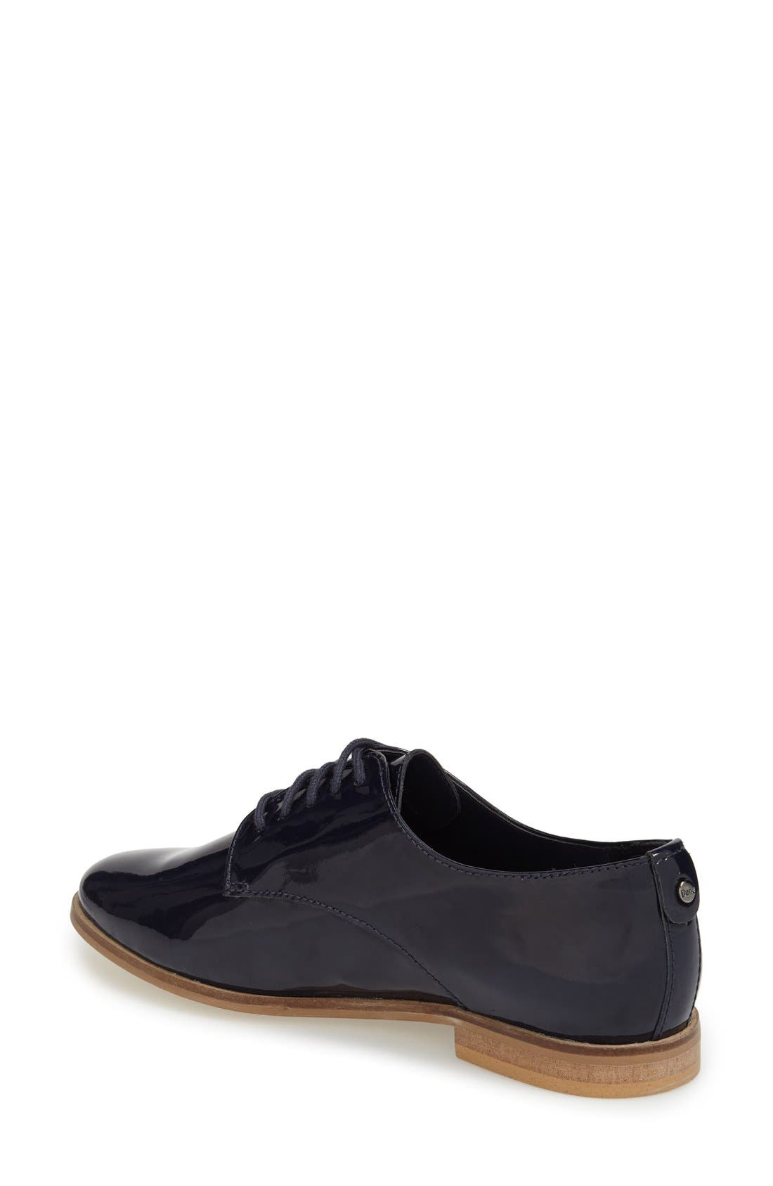 'Flossy' Patent Leather Oxford,                             Alternate thumbnail 2, color,                             Navy Patent Leather