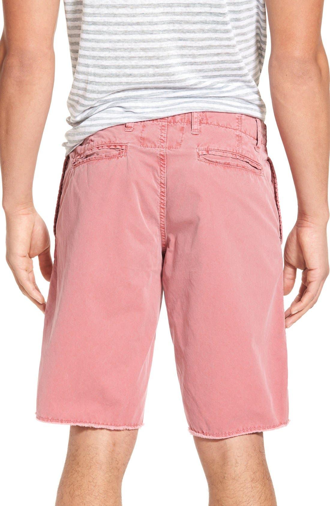 'St. Barts' Raw Edge Shorts,                             Alternate thumbnail 2, color,                             Cranberry
