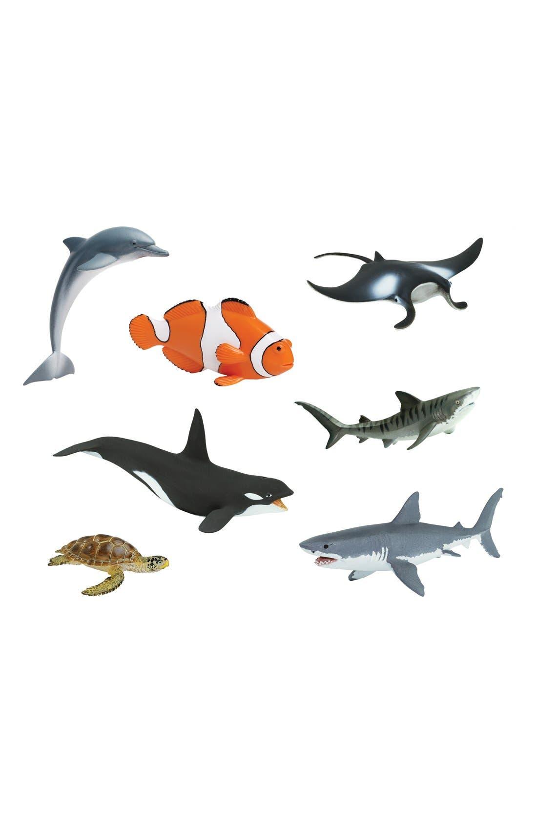 Sea Life Figurines,                         Main,                         color, Blue