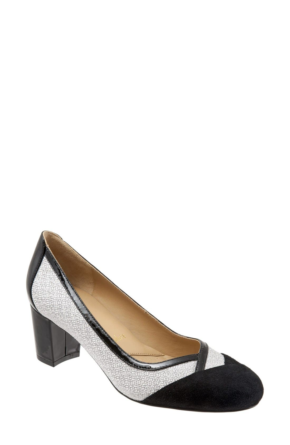 'Phoebe' Pump,                         Main,                         color, Black Suede