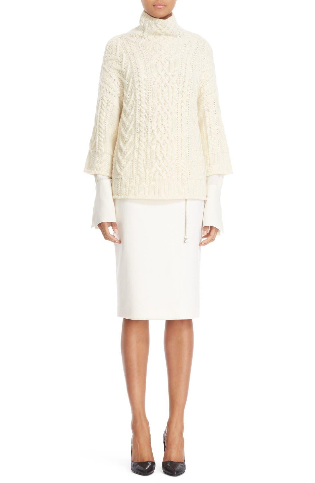 Alternate Image 7  - Max Mara 'Visita' Wool Jersey Pencil Skirt