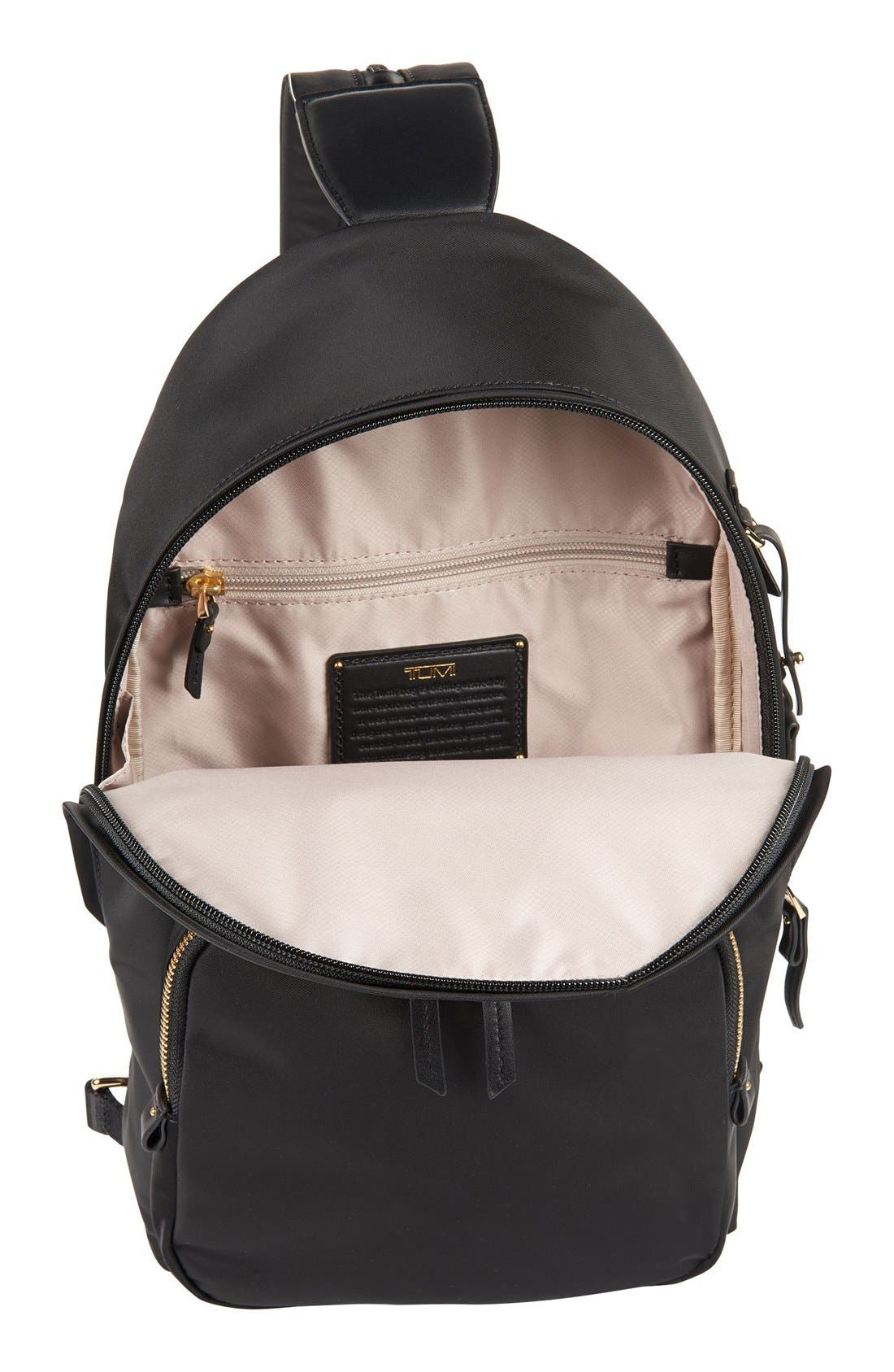 Nadia Convertible Backpack,                             Alternate thumbnail 4, color,                             Black