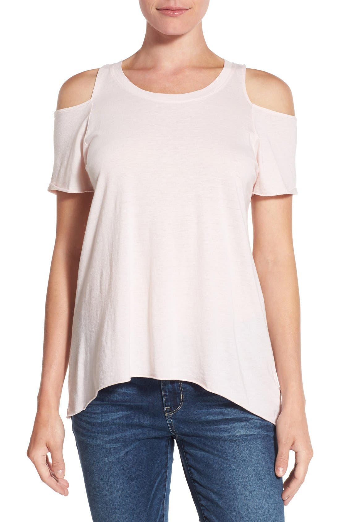 Alternate Image 1 Selected - LAmade Cold Shoulder Short Sleeve Tee