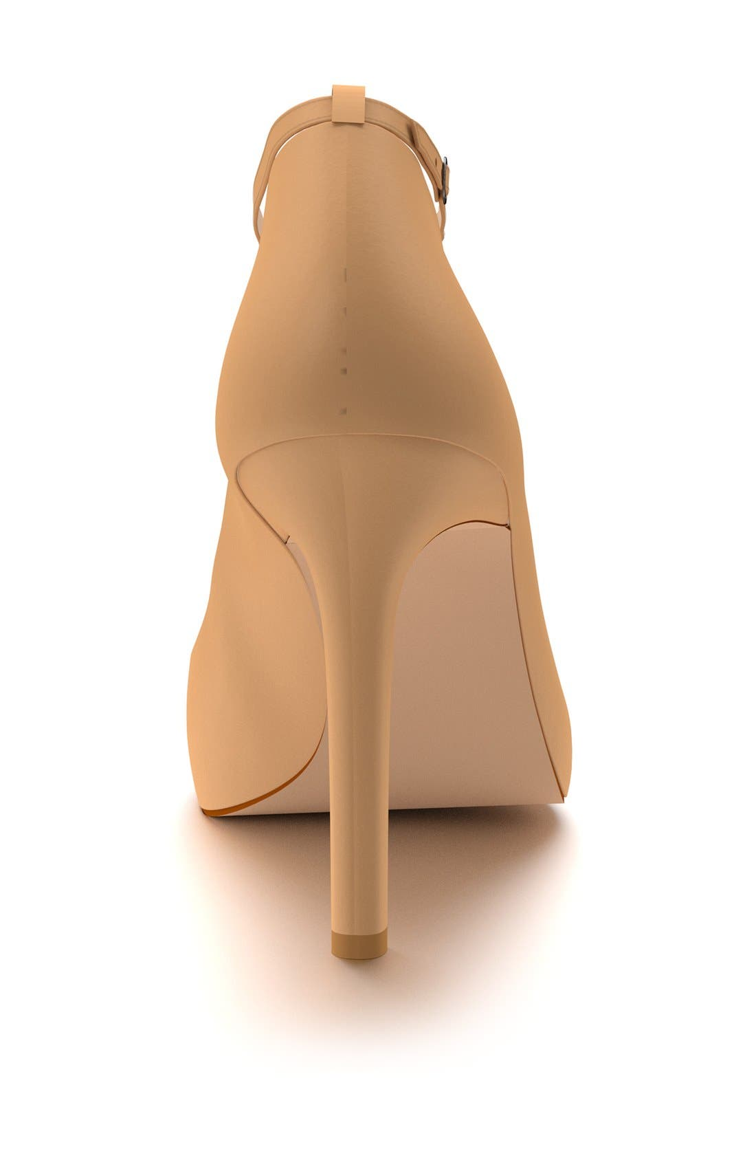 Ankle Strap Pump,                             Alternate thumbnail 2, color,                             Spiced Tan Leather