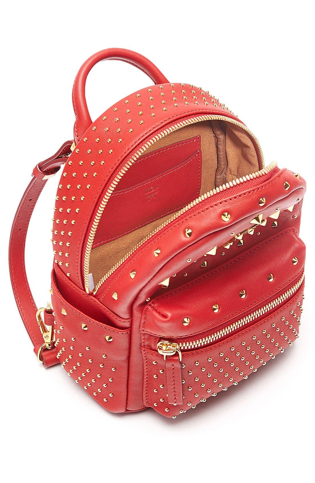 Alternate Image 3  - MCM 'X Mini Stark - Bebe Boo' Studded Leather Backpack