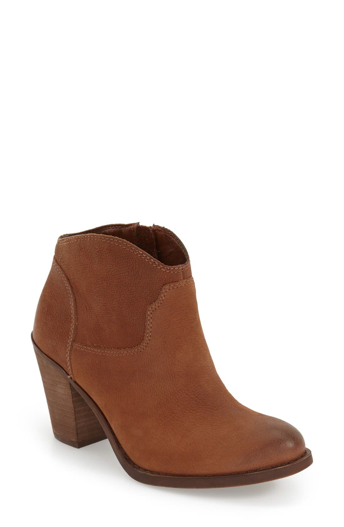 'Eller' Bootie,                             Main thumbnail 1, color,                             Toffee Leather