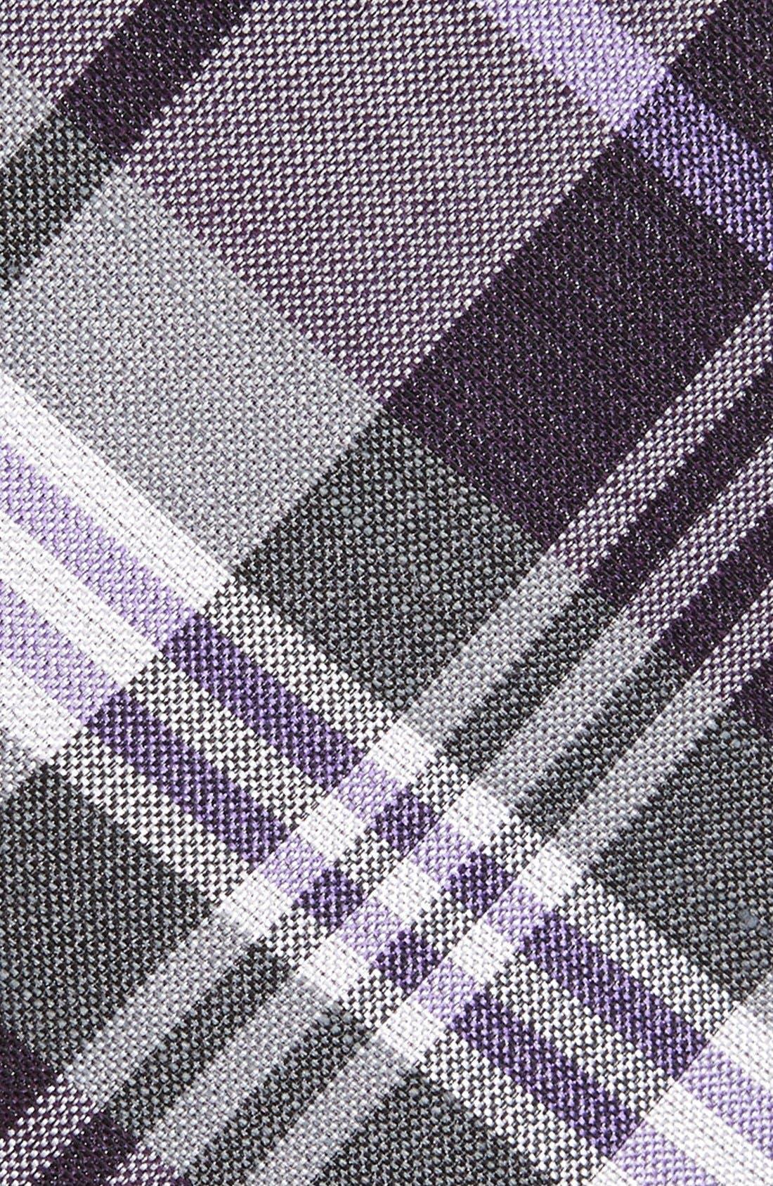 Alternate Image 2  - The Tie Bar Plaid Silk & Linen Tie