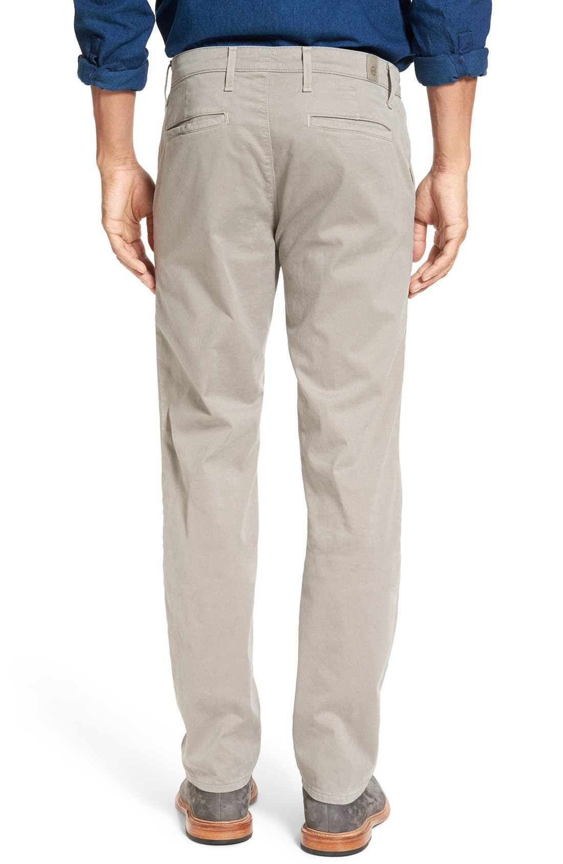 Alternate Image 2  - AG 'The Lux' Tailored Straight Leg Chinos