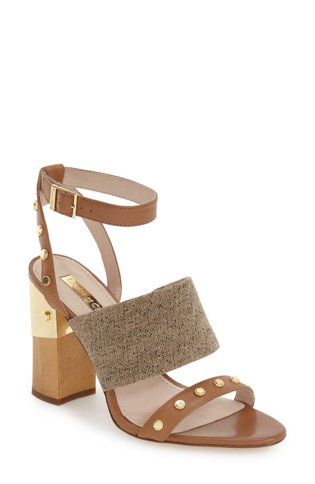 Alternate Image 1 Selected - Louise et Cie 'Kellyn' Studded Sandal (Women)