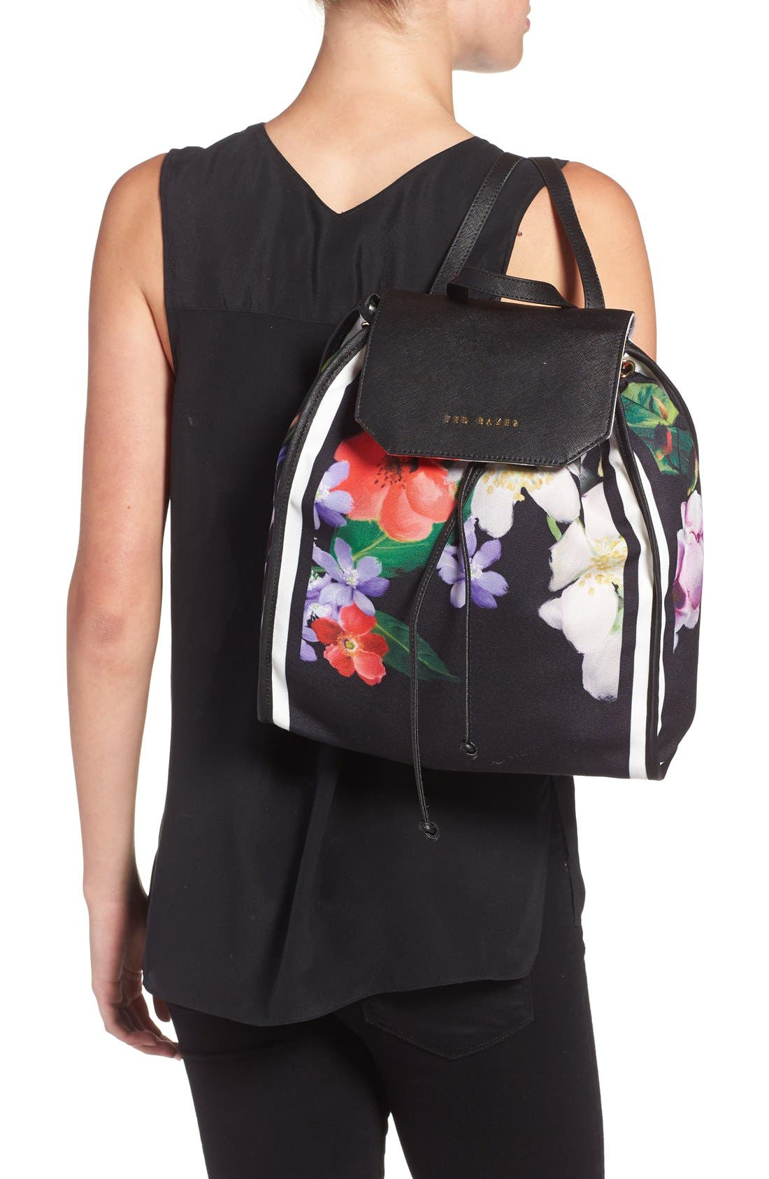 Alternate Image 2  - Ted Baker London 'Encyclopedia' Textile Drawstring Backpack