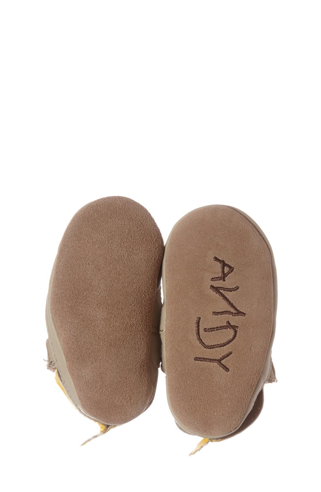 'Disney<sup>®</sup> Woody<sup>®</sup> Bootie' Crib Shoe,                             Alternate thumbnail 4, color,                             Taupe