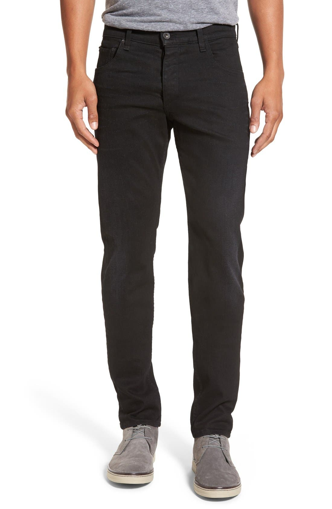 Main Image - rag & bone Standard Issue 'Fit 2' Slim Fit Jeans (Worn Black)