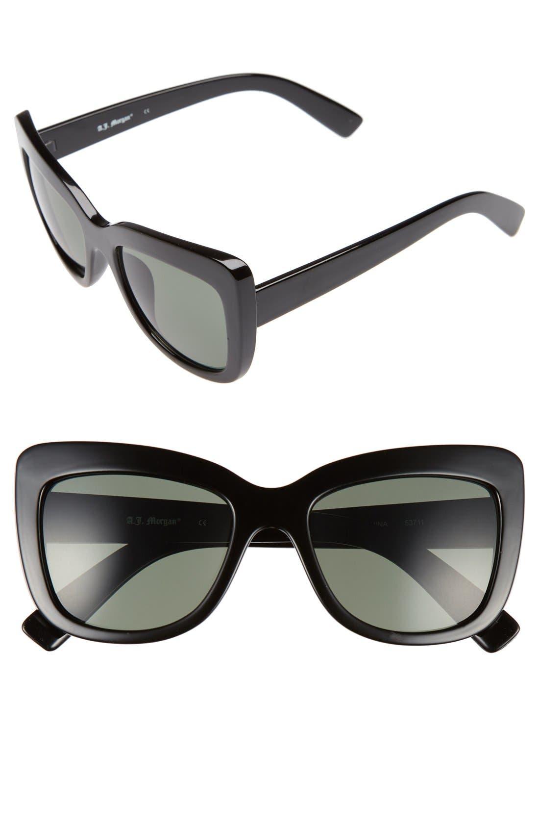Alternate Image 1 Selected - A.J. Morgan 'Lift' 50mm Cat Eye Sunglasses
