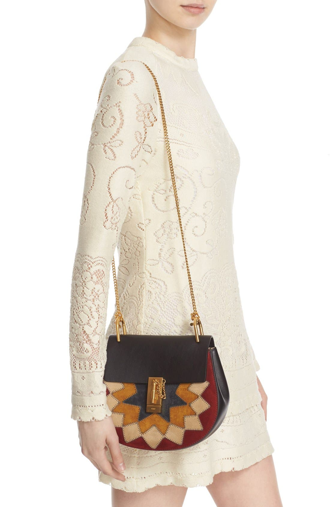 Alternate Image 2  - Chloé 'Small Drew' Wonder Woman Patchwork Suede & Leather Shoulder Bag
