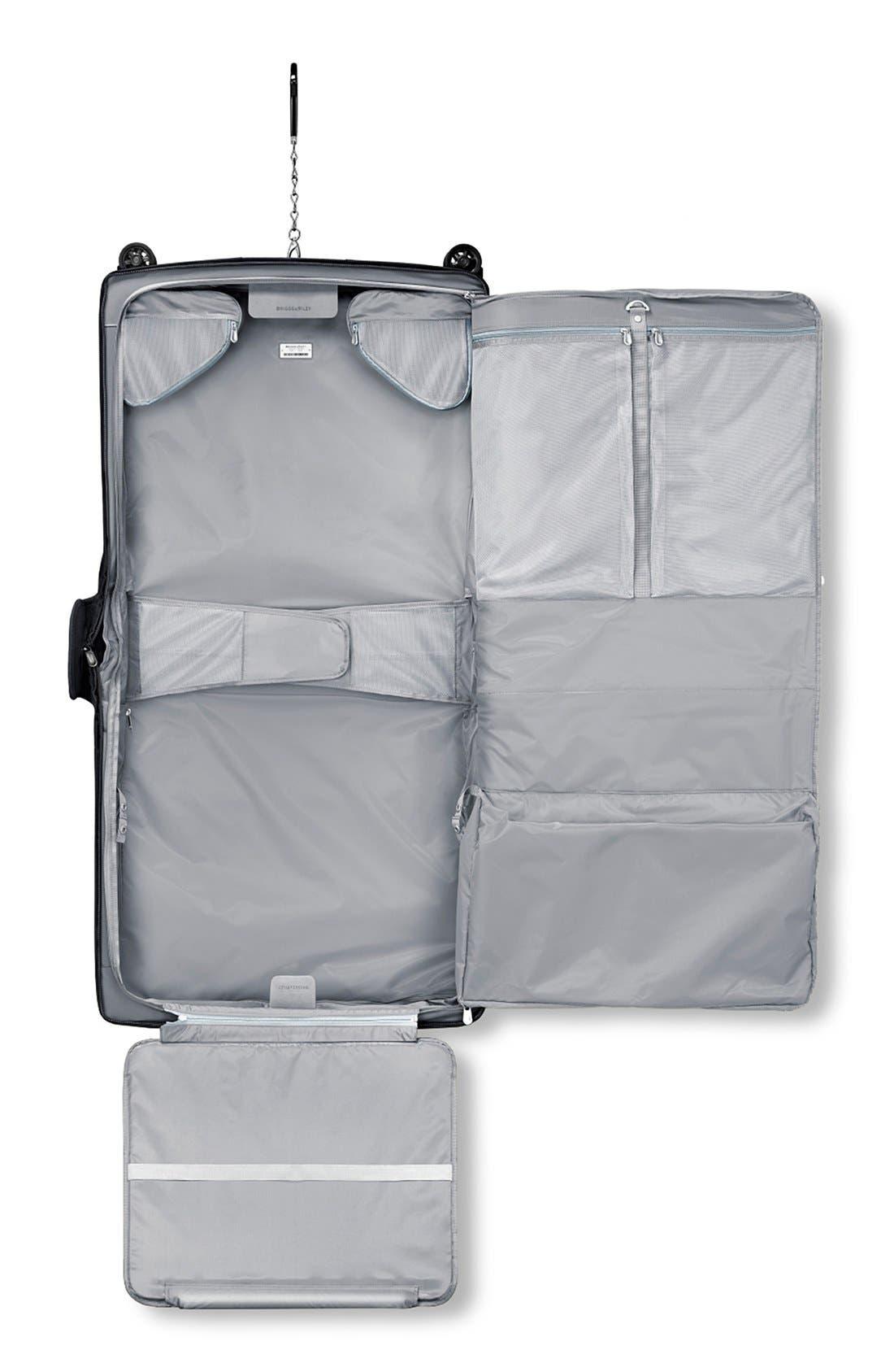 'Baseline' Wheeled Garment Bag,                             Alternate thumbnail 3, color,                             Black
