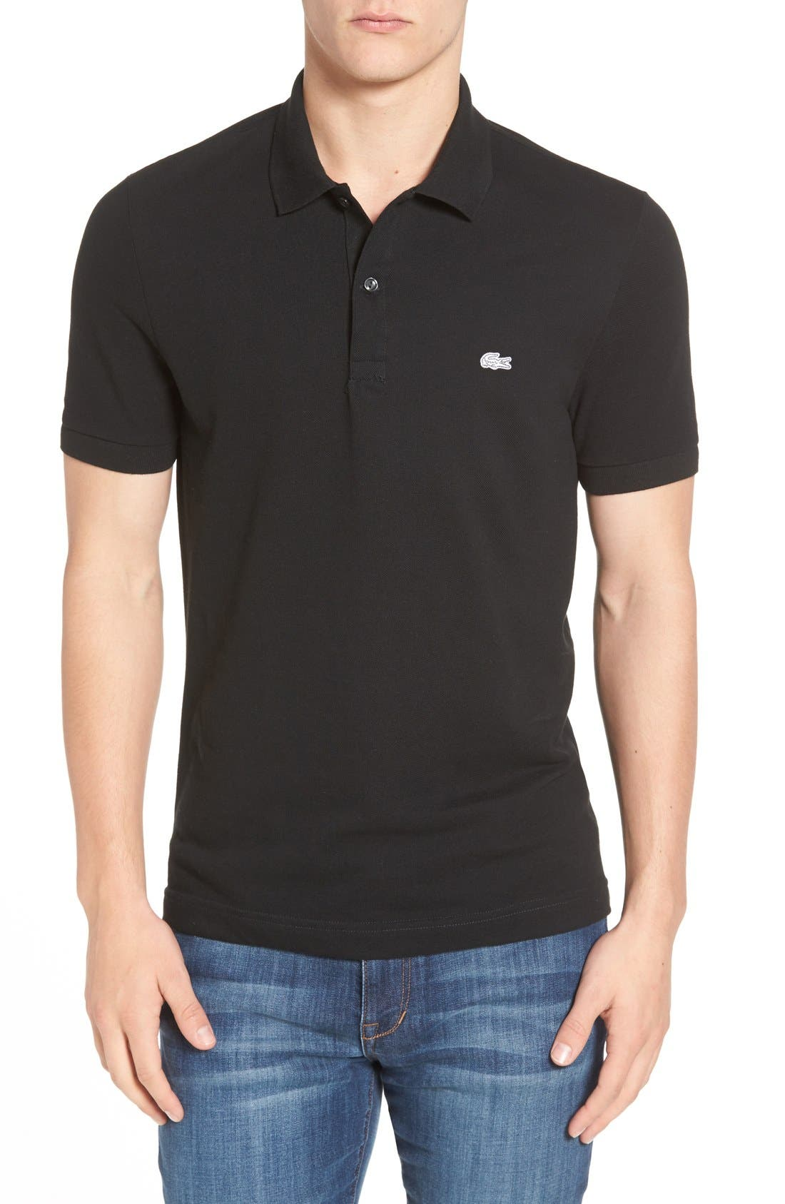 Pique Modesens Regular Fit 'white Croc' In Black Polo Lacoste wZqzOv7Iq