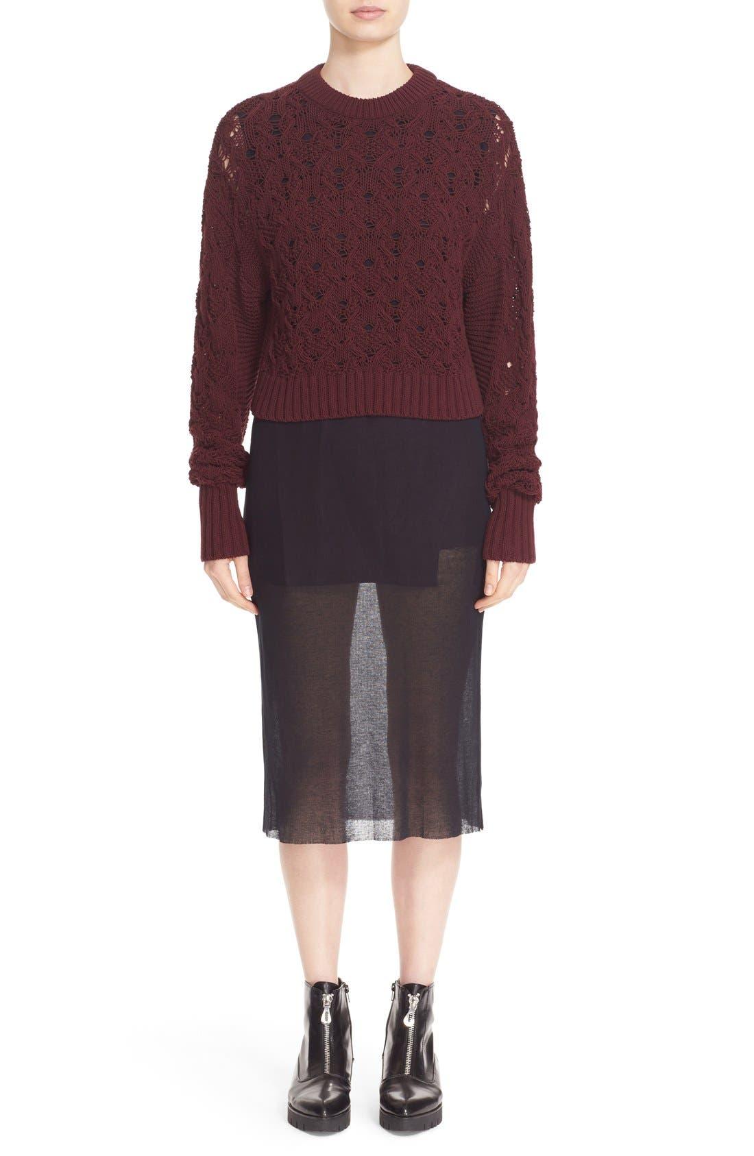 Alternate Image 2  - Public School Cotton Blend Cable Knit Sweater