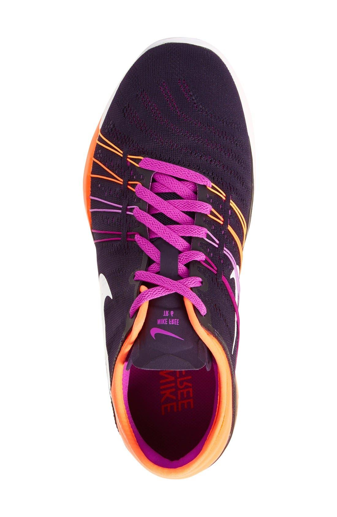 Free TR Fit 6 Training Shoe,                             Alternate thumbnail 3, color,                             Violet/ White/ Crimson