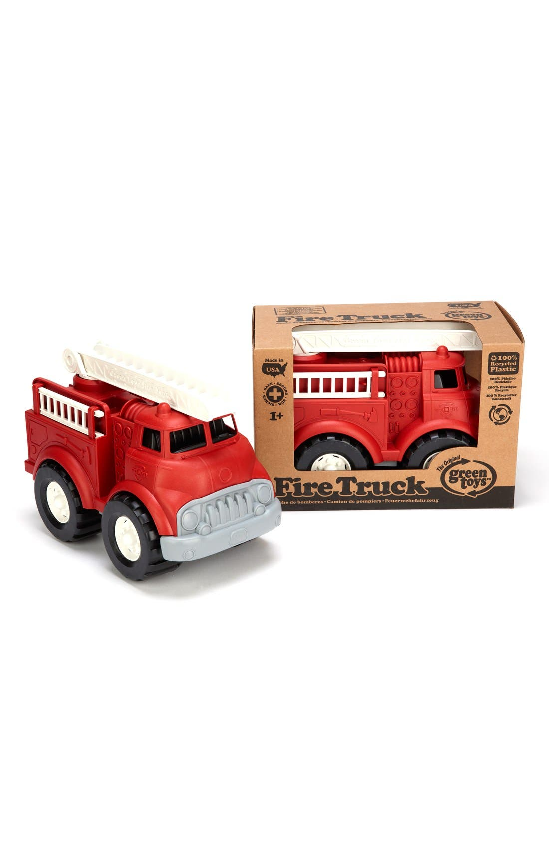 Fire Truck Toy,                             Alternate thumbnail 6, color,                             Misc