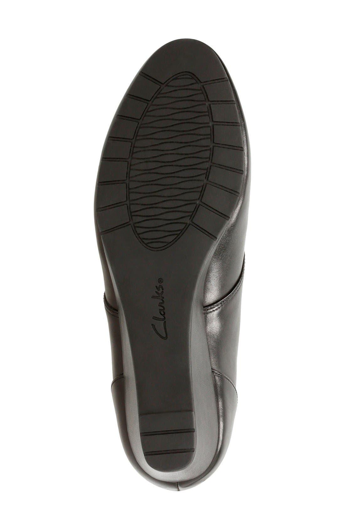 'Vendra Peak' Wedge Boot,                             Alternate thumbnail 4, color,                             Black Leather