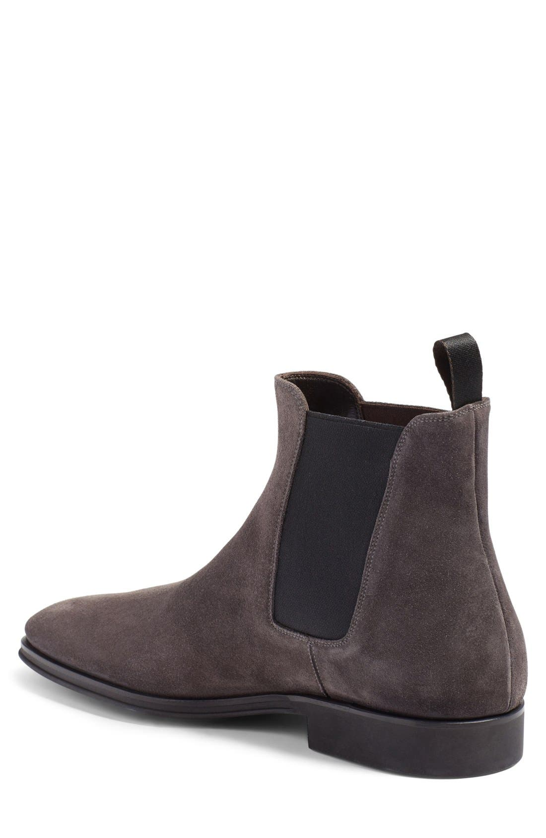 Enrico Chelsea Boot,                             Alternate thumbnail 2, color,                             Grey Suede