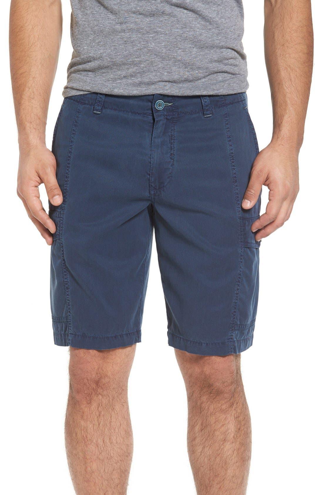 'Beachfront Kihei' Cargo Shorts,                             Main thumbnail 1, color,                             Navy