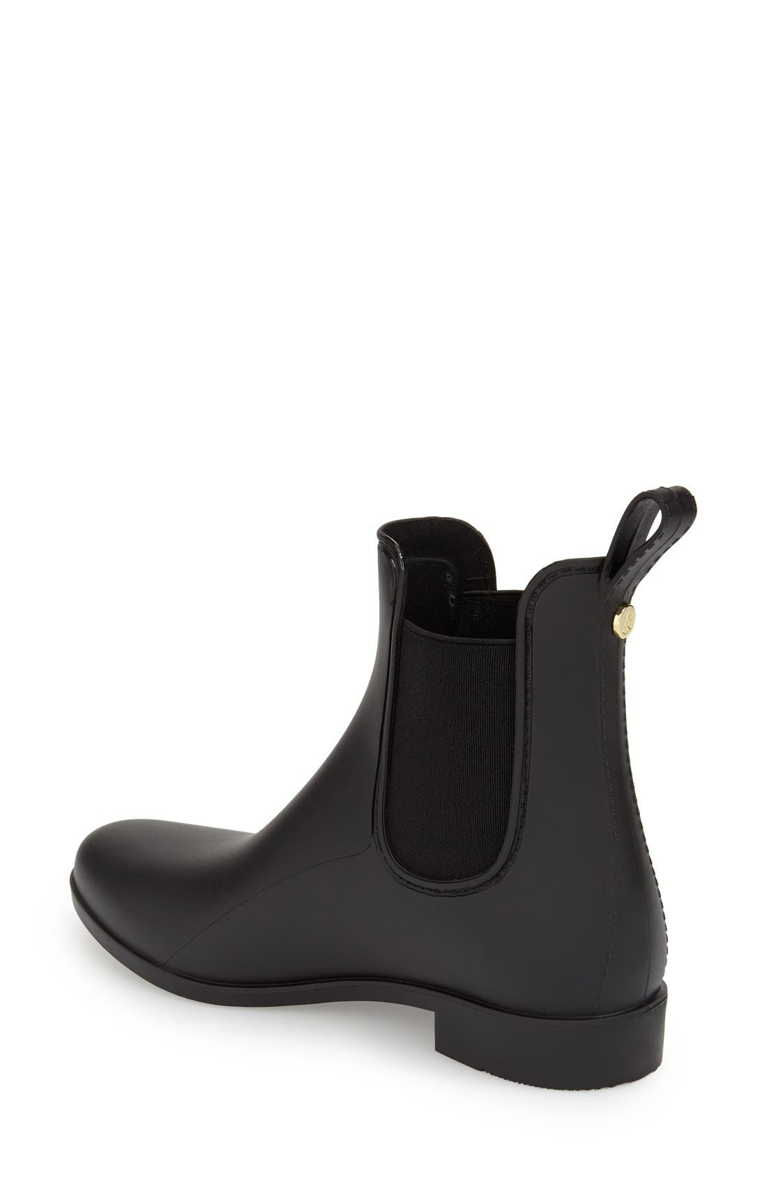 'Tinsley' Rain Boot,                             Alternate thumbnail 2, color,                             Matte Black