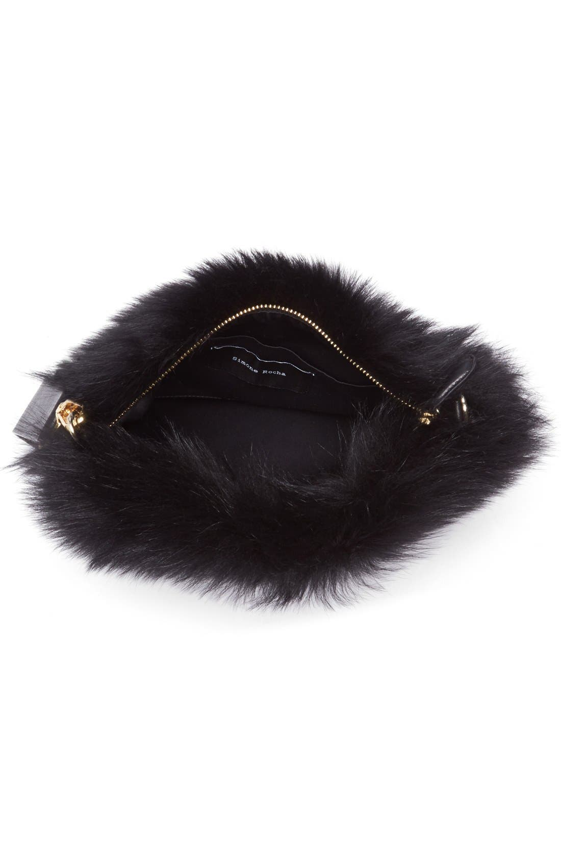Alternate Image 4  - Simone Rocha Genuine Shearling Puff Clutch
