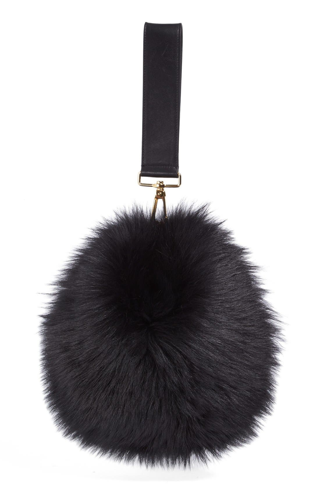 Alternate Image 1 Selected - Simone Rocha Genuine Shearling Puff Clutch