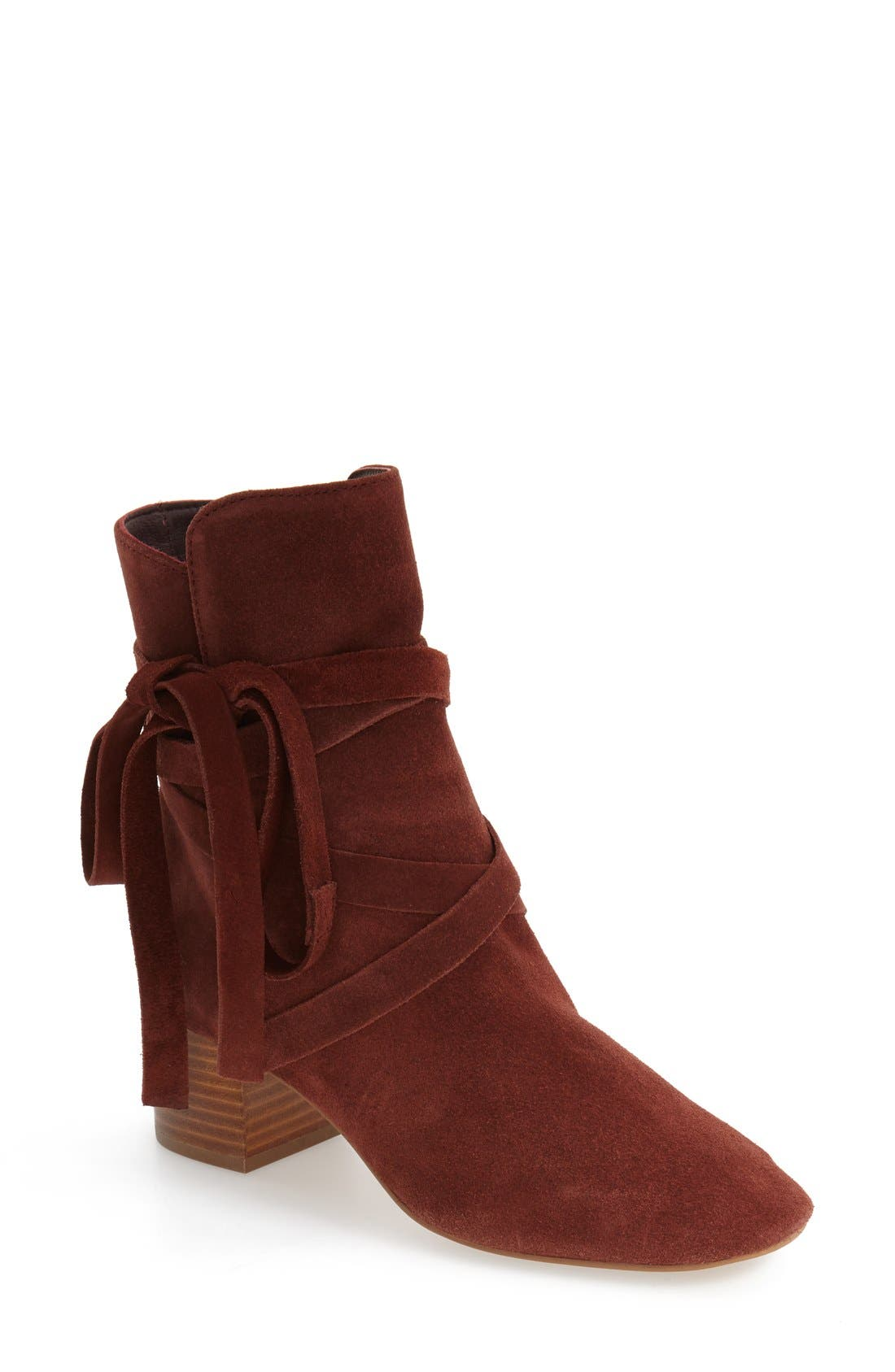 Alternate Image 1 Selected - Topshop 'Anabel' Lace-Up Boots (Women)