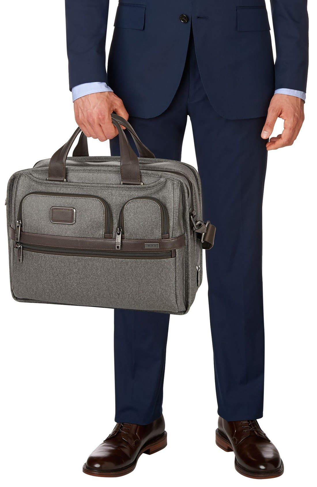 'Alpha 2' Expandable Briefcase,                             Alternate thumbnail 2, color,                             Earl Grey